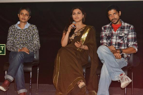 Rani,Farhan And Reema At Talaash Promotional Event