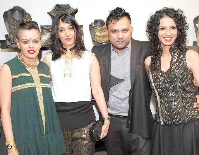 Kanika,Azmina,Gaurav And Aparna At Atosa Preview For Designer Gaurav Gupta And Kanika Saluja