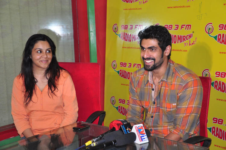 Rana Daggubati Cool Still At Radio Mirchi For KVJ Promotion