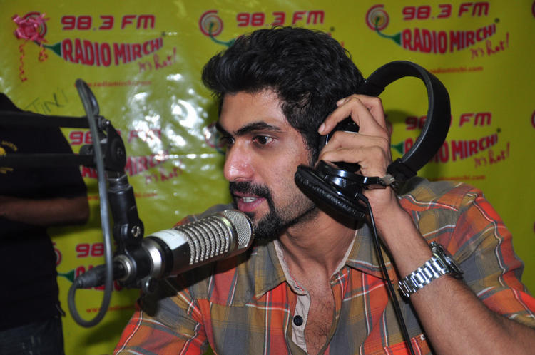 Rana Daggubati Nice Look Still At Radio Mirchi For KVJ Promotion