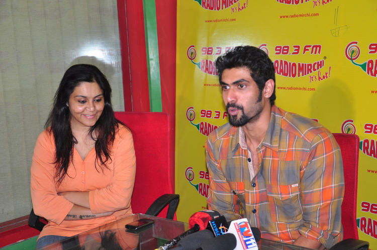 Rana Daggubati Posed At Radio Mirchi For Promotes KVJ