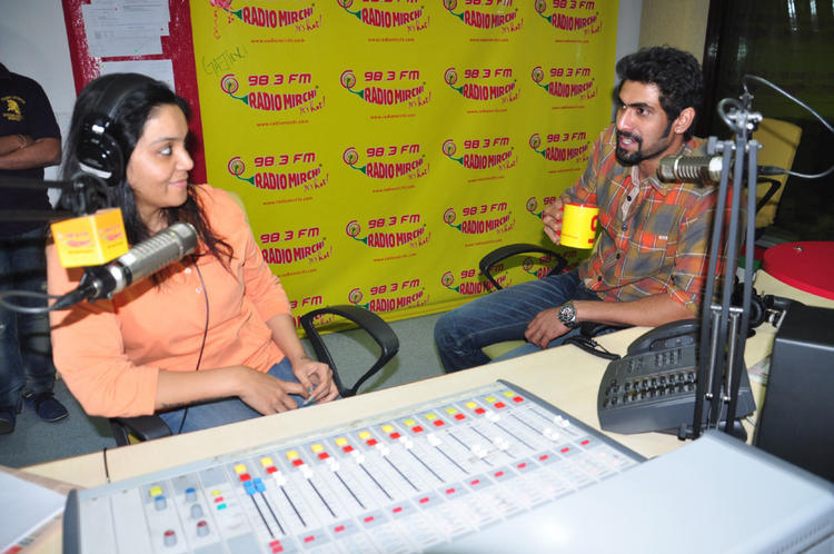 Rana Daggubati At Radio Mirchi For Promotes KVJ