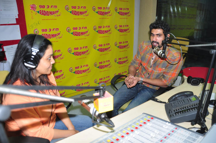 Rana Discussion Still At Radio Mirchi For Promotes KVJ