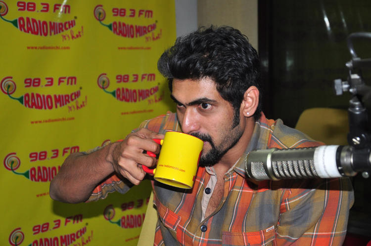 Rana Take Coffee Still At Radio Mirchi For Promoting KVJ Movie
