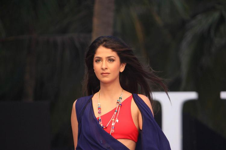 A Model Looks Sexy In James Ferreira Cllection At IRFW 2012 In Goa