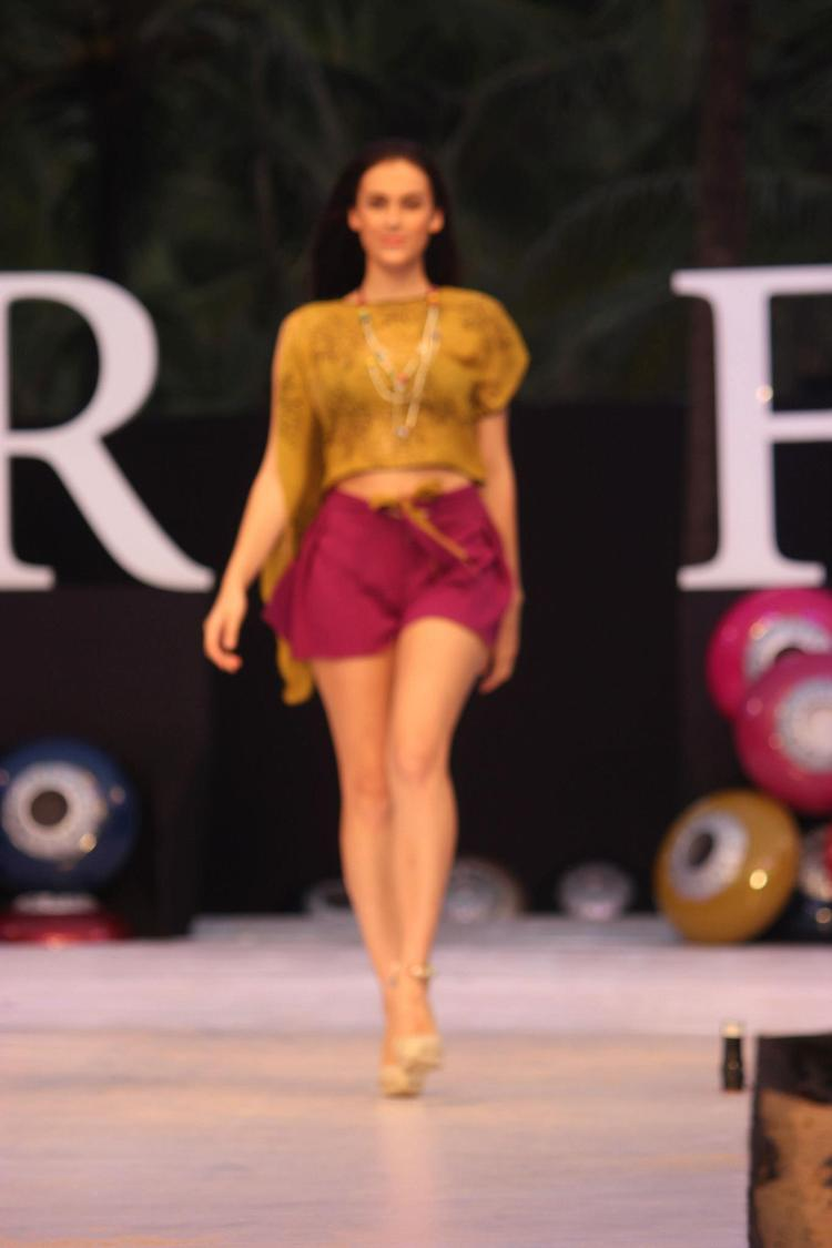 A Model On Ramp For James Ferreira At India Resort Fashion Week 2012