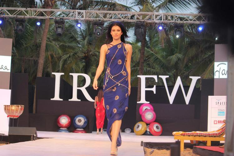 A Model Walks On Ramp For James Ferreira At India Resort Fashion Week 2012 In Goa