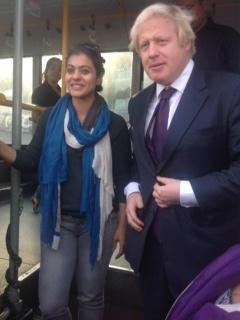 Kajol Spotted With Boris Johnson The Mayor Of London On The VIP Bus