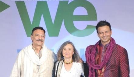 Vivek And Suresh With Guest On Ramp At Global Peace Fashion Show