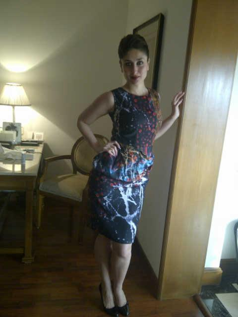 Kareena Trendy Looking Photo Still At Talaash Promotions