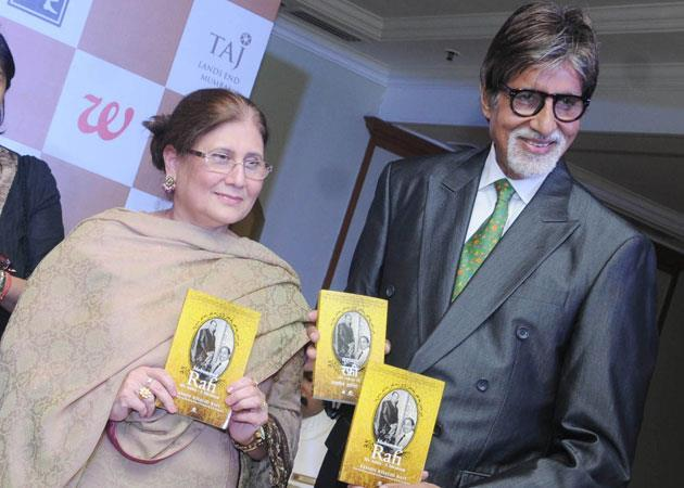 Amitabh And Yasmin Photo Clicked At The Launch Of Book 'Mohammed Rafi My Abba'