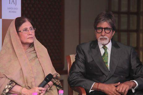 Amitabh And Yasmin Spotted At The Launch Of Book 'Mohammed Rafi My Abba'