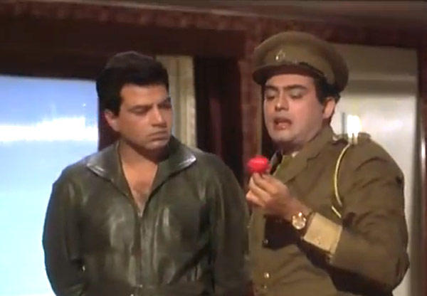 Dharmendra And Sanjeev Nice Photo From Movie Shikar