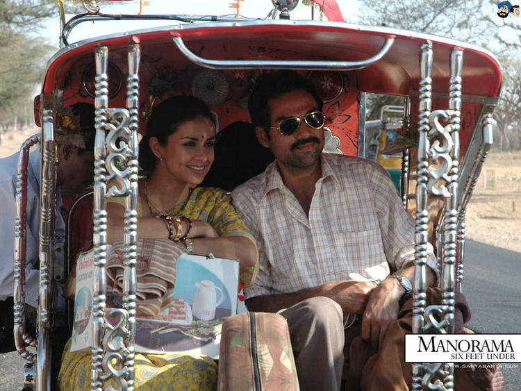 Gul Panag And Abhay Smiling Still From Movie Manorama Six Feet Under