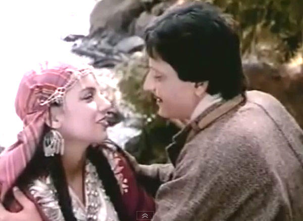 Shabana Azmi And Amol Palekar Smiling Photo From Movie Khamosh