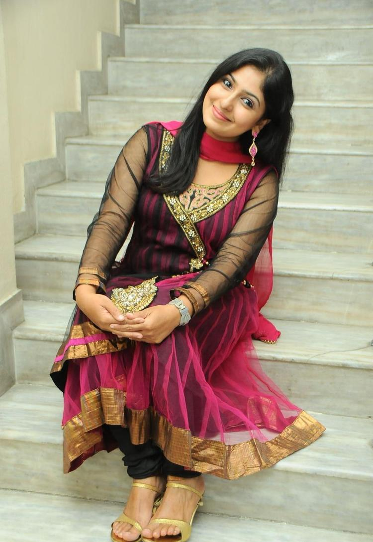 Monica Elegant Look Still At Scam Telugu Movie Audio Launch