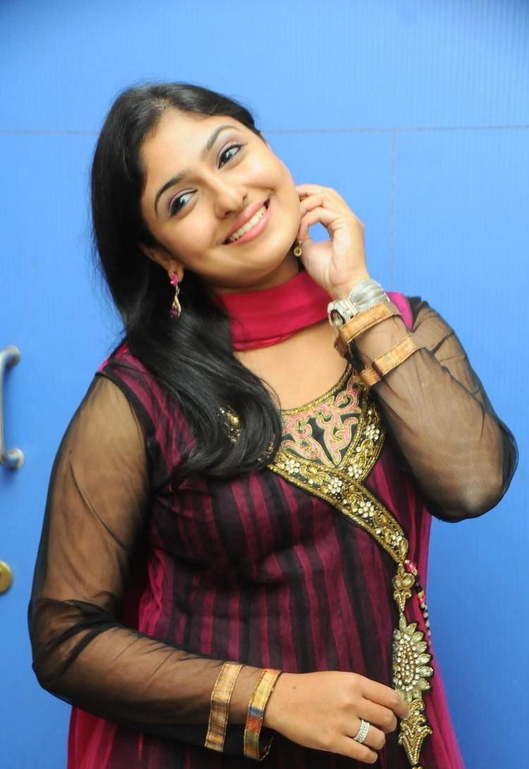 Monica Looked Ravishing In A Long Chudidar At Scam Telugu Movie Audio Launch