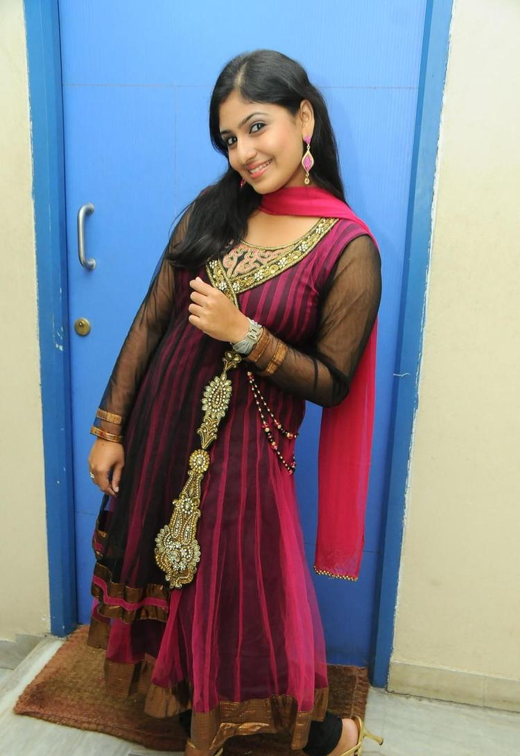 Monica Looks Fabulous In Chudidar At Scam Telugu Movie Audio Launch