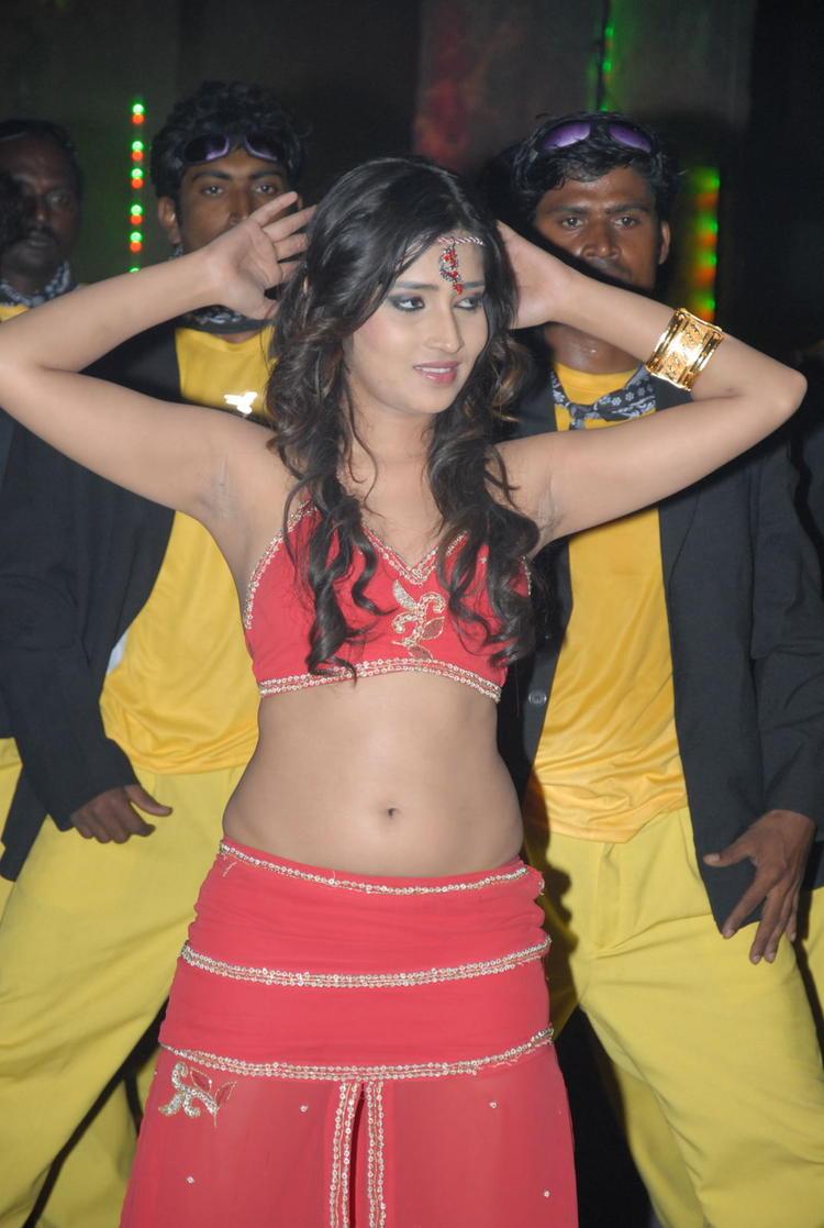 Divyayani  Looked Ravishing In A Red Ensemble On Thikka Movie Item Song