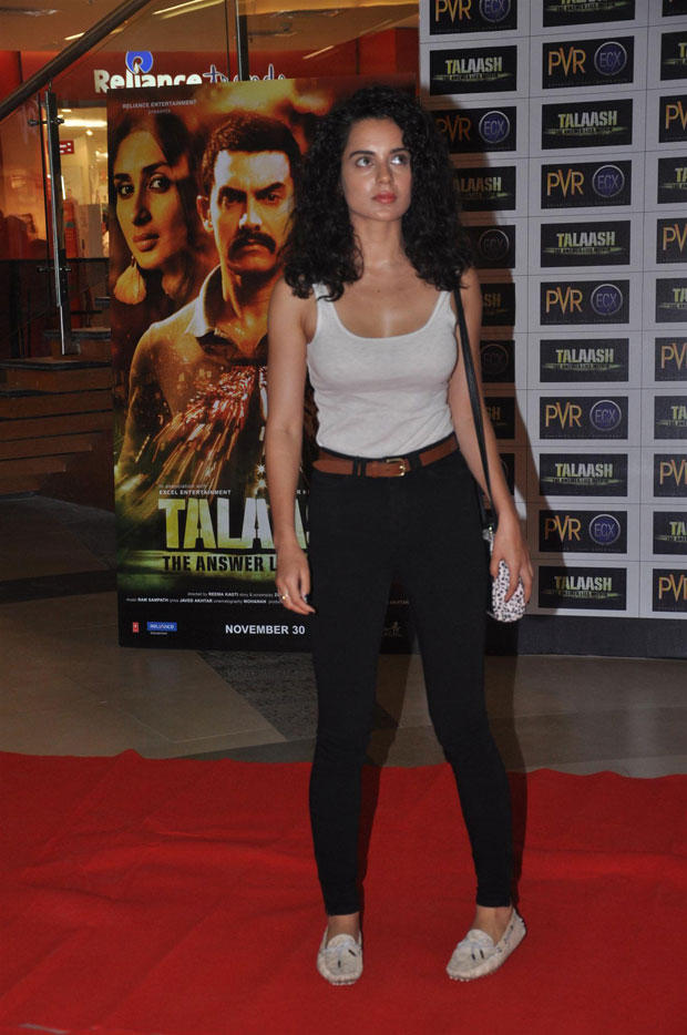 Kangna Ranaut On Red Carpet During Talaash Premiere Show