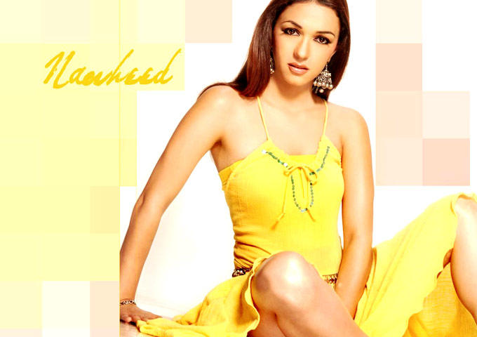 Nauheed Spicy And Hot Photo Still In A Yellow Dress