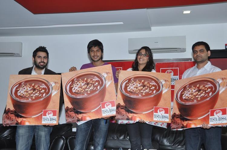 Sundeep,Regina And Praveen At Testa Rossa Cafe