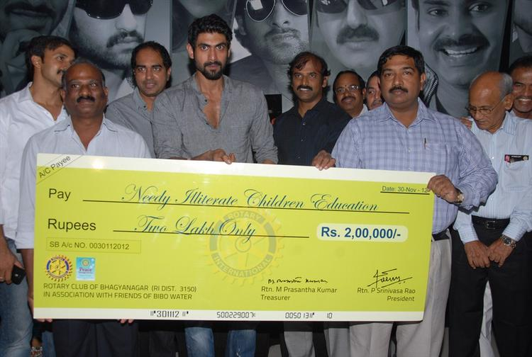 Rana Donates 2 Lakh Check To NICE Org Authorized Person