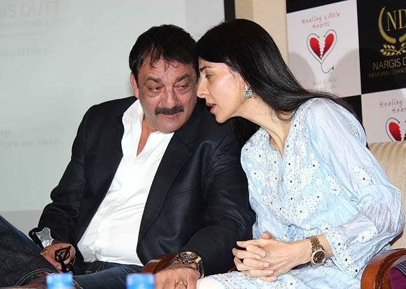 Sanjay With Sister Namrata Present At Charitable Event By Nargis Dutt Foundation