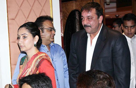 Sanjay With Wife Manyata Attend The Charitable Event By Nargis Dutt Foundation