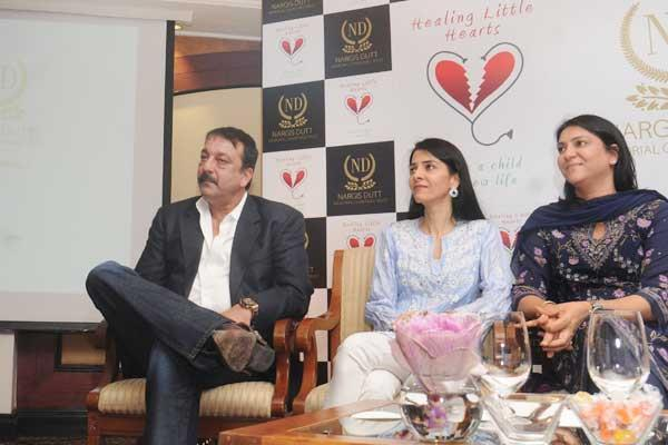Sanjay,Namrata And Priya During At Charitable Event By Nargis Dutt Foundation