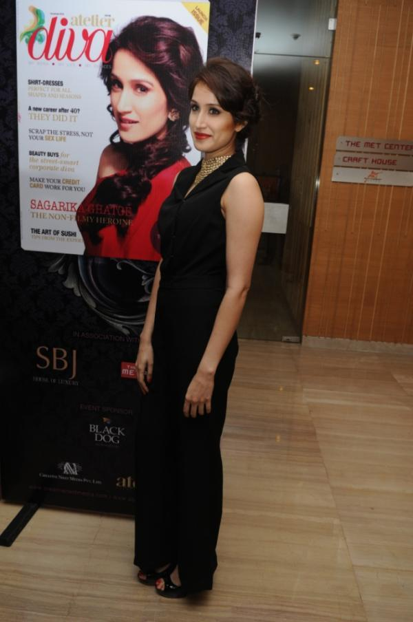 Sagarika On The Cover Launch Issue Of Atelier Diva Magazine