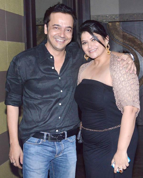 Pragati Mehra With A Guest Clicked At Her Birthday Bash