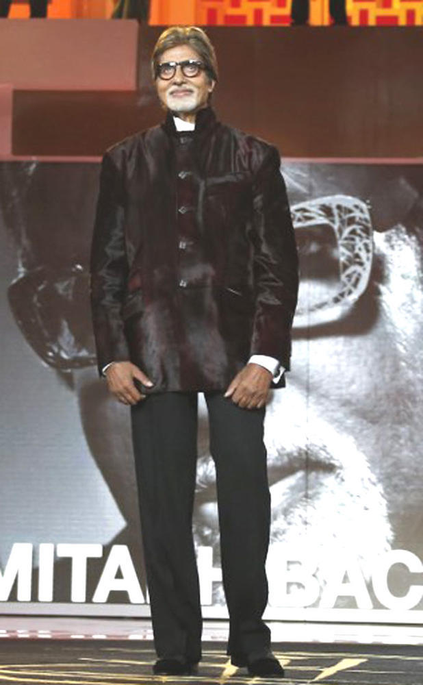 Big B Posed During Attend The 12th Marrakech International Film Festival
