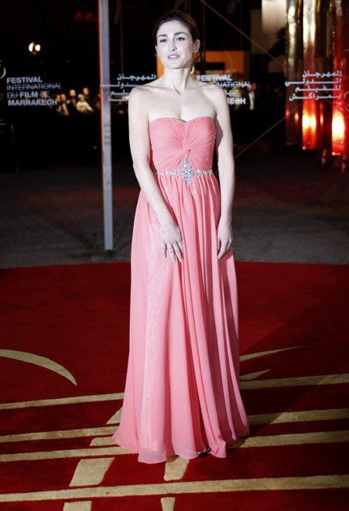French Actress Julie In Strapless Dress Glamour Look At 12th Marrakech International Film Festival