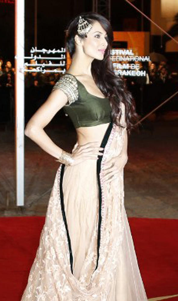 Malaika Glamour Look Pose At 12th Marrakech International Film Festival
