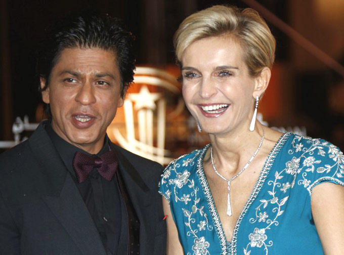 Shahrukh With Melita Smiling Pose At 12th Marrakech International Film Festival