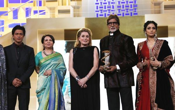 SRK,Sharmila,French Actress Catherine,Amitabh And Sridevi Posed At 12th Marrakech International Film Festival