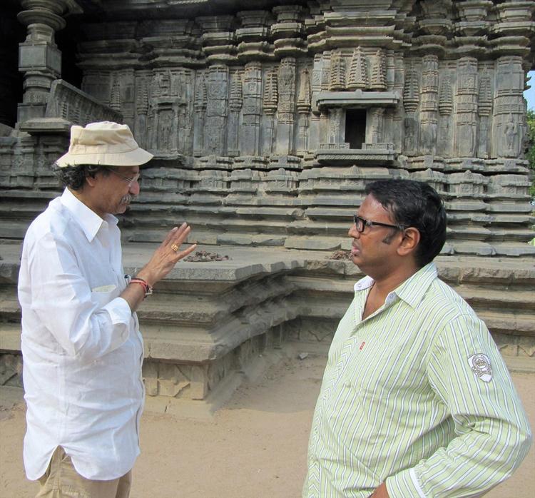 Gunasekhar And Thota Tharani Discussion Still At Warangal