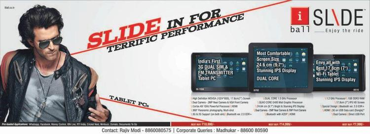 iBall Slide Tablet PC Launced By Hrithik Roshan