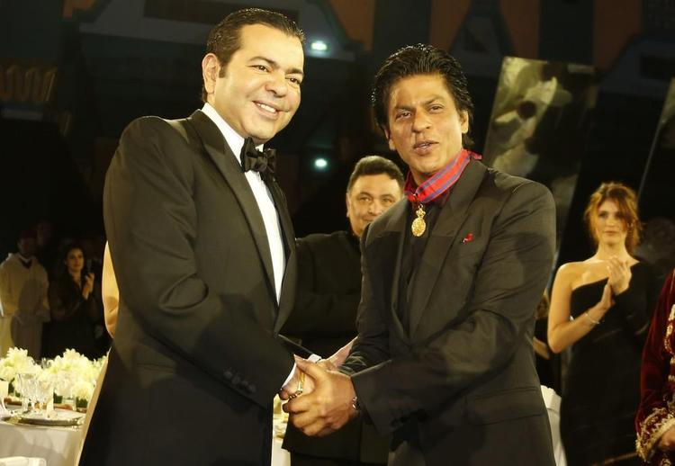 Shahrukh And Moulay Handshake To Each Other At 12th Marrakech International Film Festival