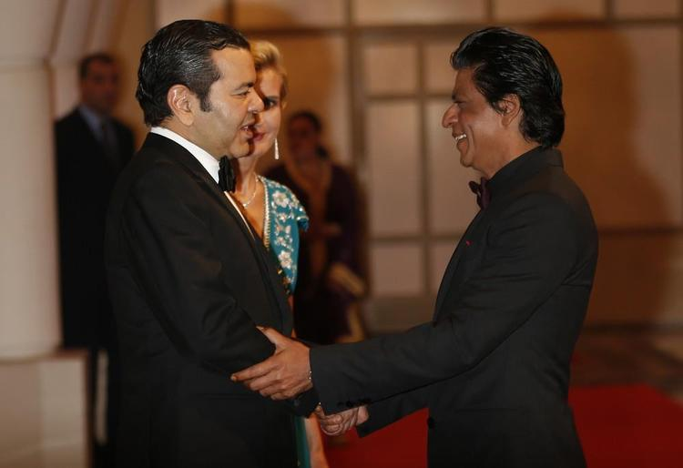 Shahrukh Greets Morocco's Prince Moulay At 12th Marrakech International Film Festival