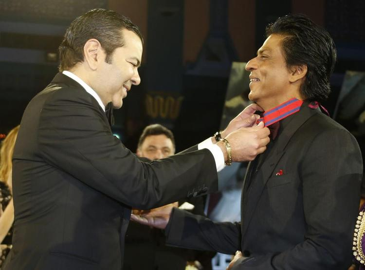 Shahrukh Honoured Medal By Morocco's Prince Moulay At 12th Marrakech International Film Festival