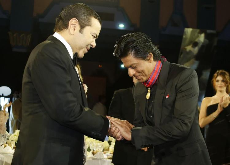 Shahrukh With Medal Of Honour By Morocco's Prince Moulay At 12th Marrakech International Film Festival