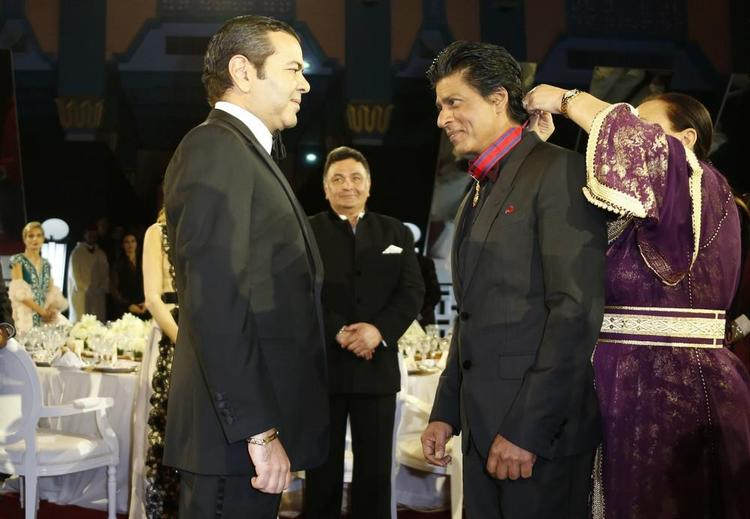 Shahrukh Presented With The Moroccan Medal Of Honour By Morocco's Prince Moulay At 12th Marrakech International Film Festival