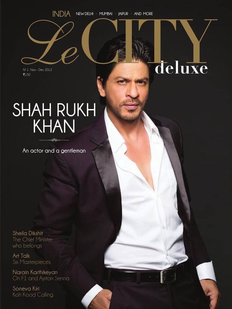 Shahrukh Khan On The Cover Of Le City Delux India December 2012