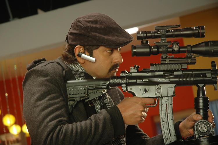Srikanth With Gun Still From Operation Duryodhana Movie