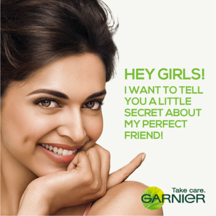 Deepika Nice Look With Cute Smiling Pose For The Cosmetic Brand Garnier Ad