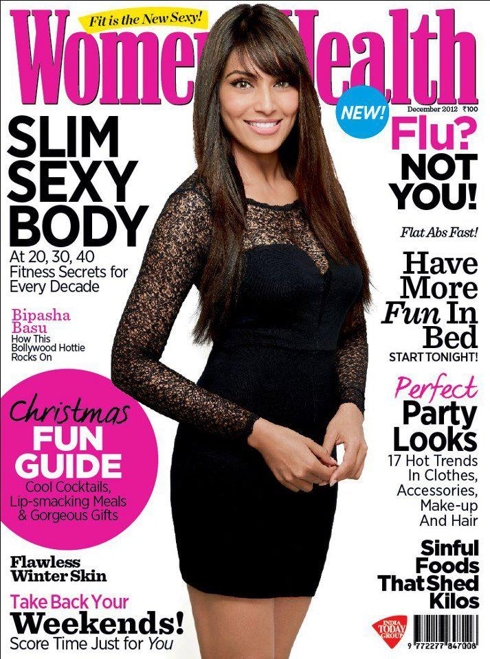 Bipasha In A Black Mini Scott On The Cover Of Womens Health India
