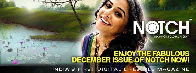 Vidya Balan Trendy Looking Photo Still On The Cover Of NOTCH  December