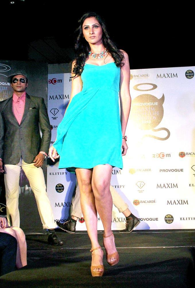 A Model Walk On Ramp At Maxim Nightlife Award
